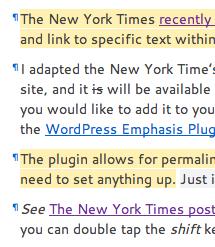 Screenshot of the plugin in use