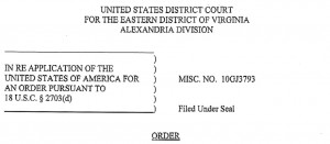 Screenshot of the court order
