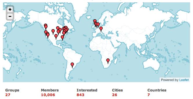 Map of hackshackers members